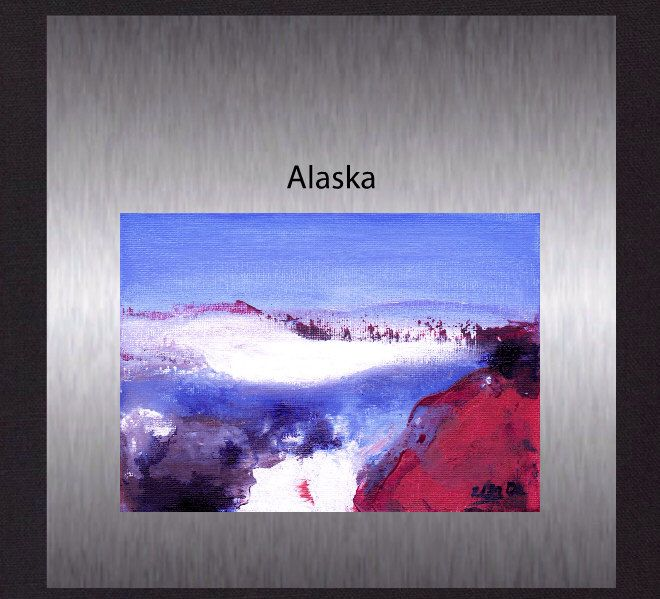 """Alaska - Original Colourful Abstract. Modern Acrylic Painting. Hand Painted not a print.5""""x7"""" by ElcoStudio on Etsy"""
