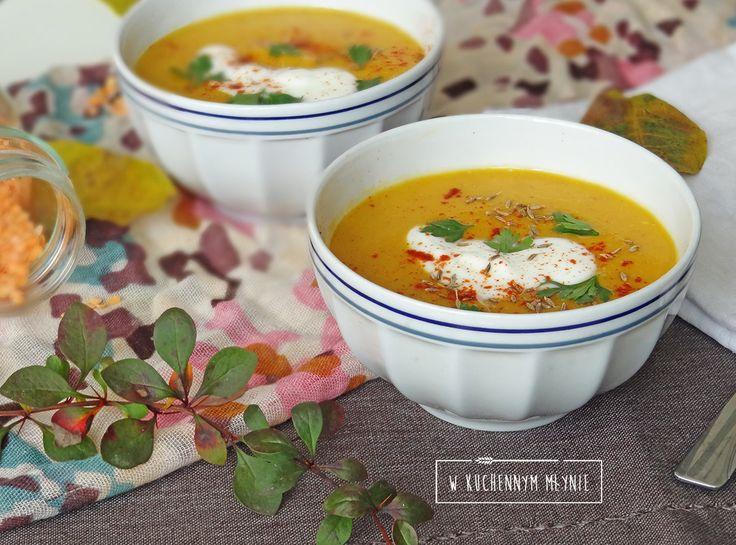 Kremowa zupa z soczewicy i marchewki