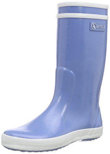 Aigle Lolly Pop, Bottes de Pluie mixte enfant, Bleu (Bleu Ciel), 29 EU: Depuis près de 40 ans, cette  botte de pluie en caoutchouc…