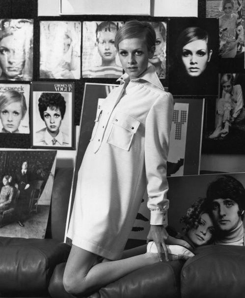 Photo vintage du mannequin Twiggy