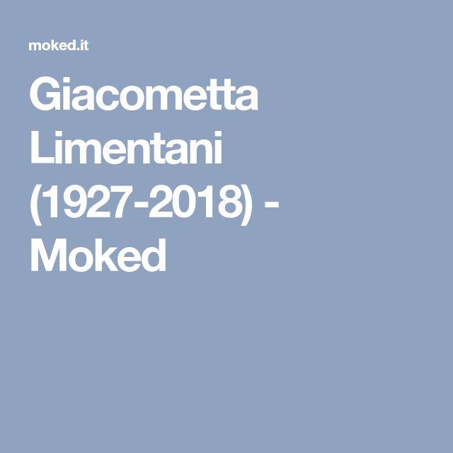 Giacometta Limentani (1927-2018) - Moked