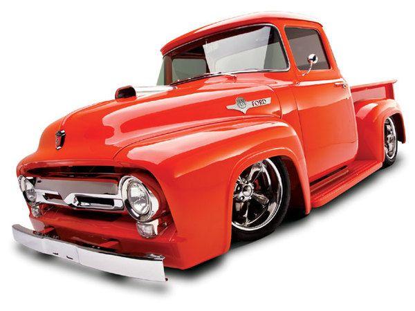 Orange 56 f100 for sale garage toys for Garage ford orange