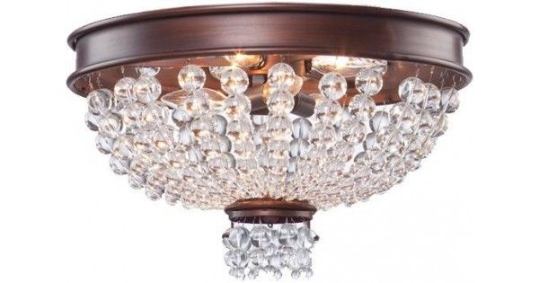 Bronze Bowl Flush Mount by Artcraft | Montreal Lighting & Hardware #lighting #'éclairagee