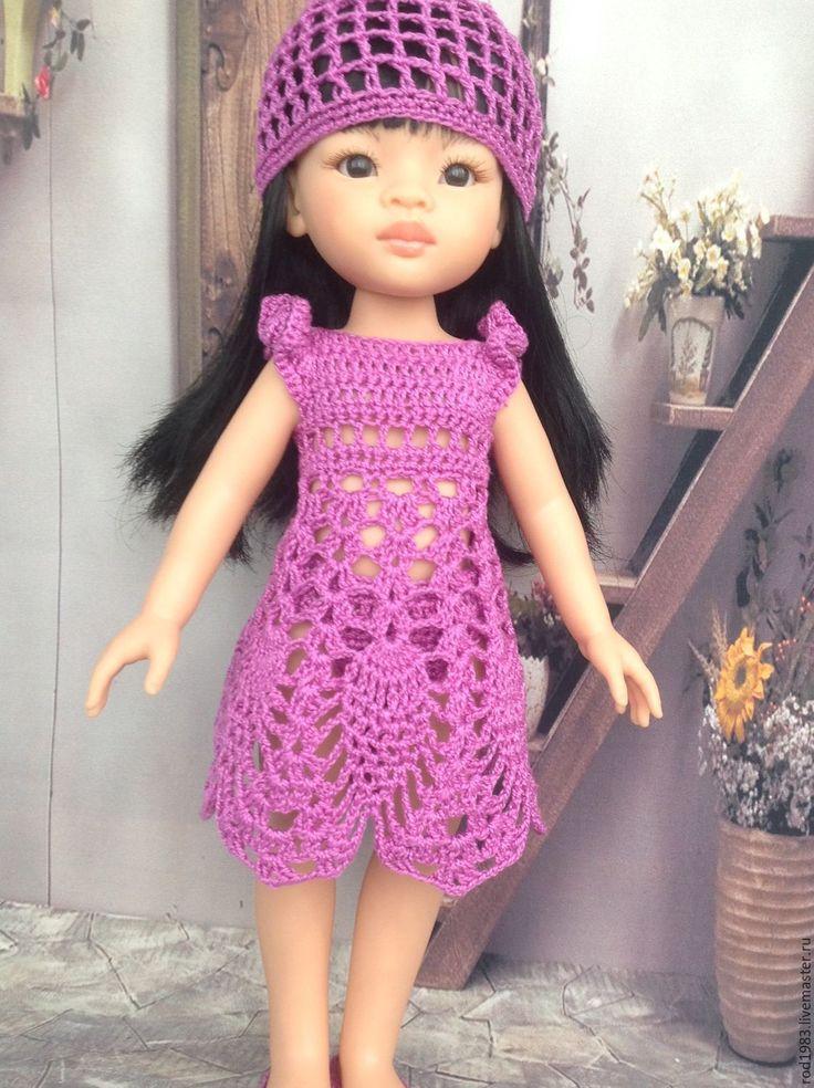 Купить Наряд для паолочки крючком - фиолетовый, наряд для куклы, платье для куклы, одежда для кукол