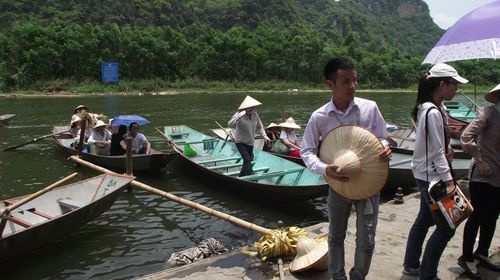 Sampan ride on the Perfume River