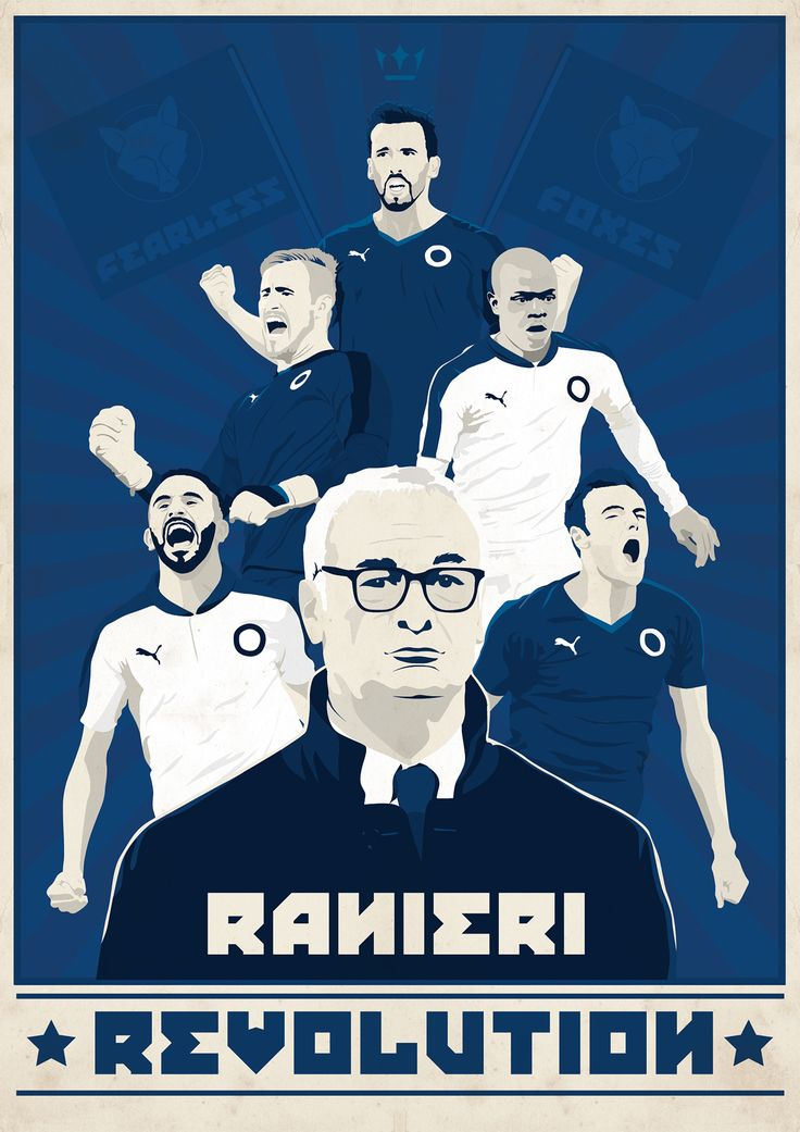 Constructivism inspired poster celebrating Claudio Ranieri's revolution at Leicester City Football Club. Your thoughts?