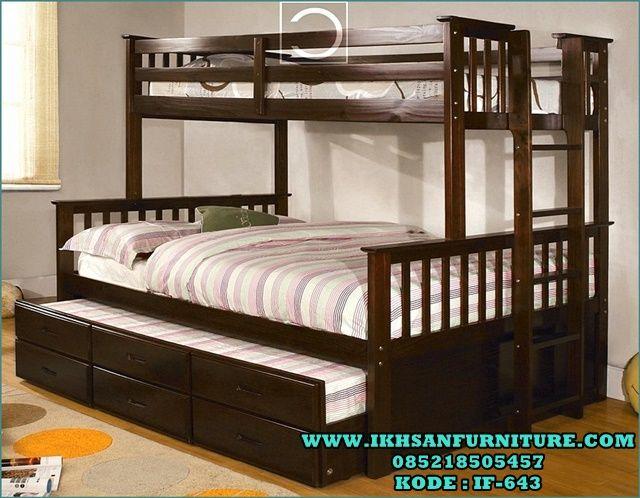 Tempat Tidur Anak Tingkat Minimalis Murah Cat Duco IF-643