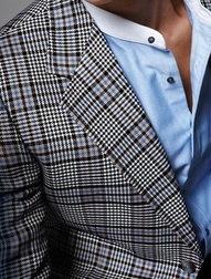 absolutely love this blazer - black, blue and grey plaid by Gucci