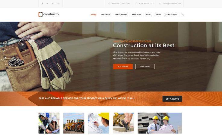 Constructo WordPress İnşaat Teması   WP Kurulum