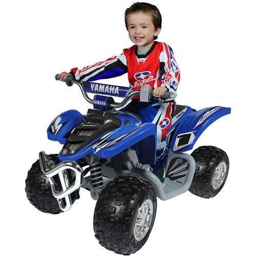 Yamaha Raptor Boys ATV 12v Battery Powered Ride On Toy Car Kids 4 Wheeler Bike