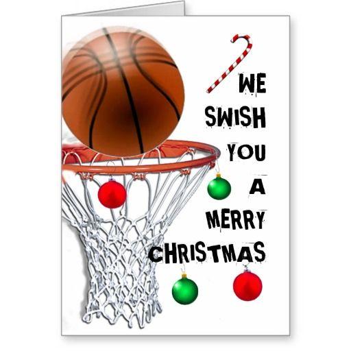 basketball Christmas cards