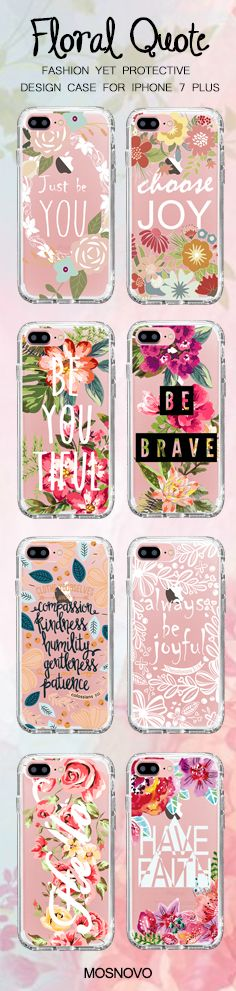 Mosnovo Floral Quote iPhone 7 Plus Cases Collection☞ http://amzn.to/2efcuB3 #Mosnovo