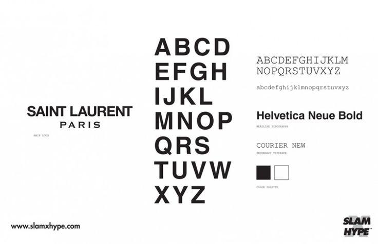 Saint Laurent Paris Font Brands Pinterest Fonts