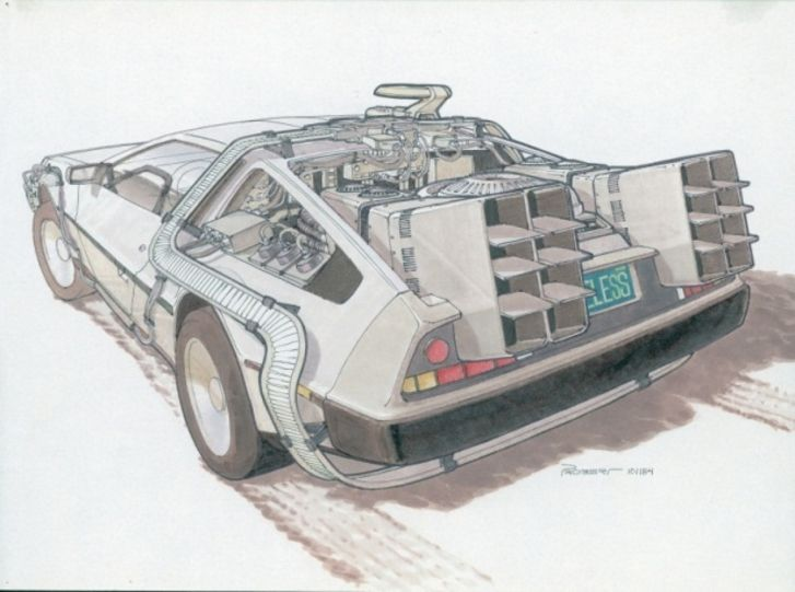Back To The Future II concept drawings - photo 1