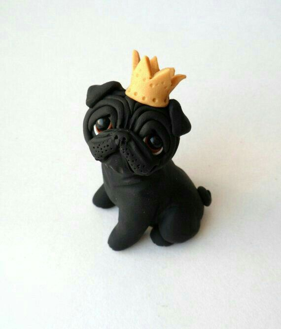 The detail on this lil' guy is amazing!! He is so cute! #cuteblackpugs