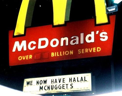 "I say - Burger King (horsemeat) boycott; Subway (change menu options for Muslims) boycott; McDonald's (""Halal McNuggets"") boycott - fast food is fast becoming a thing of the past .... previous pinner said: #BOYCOTT MACAS and BAN HALAL>>>> Happy MUSLIM BULLSHIT halal meal #auspol"