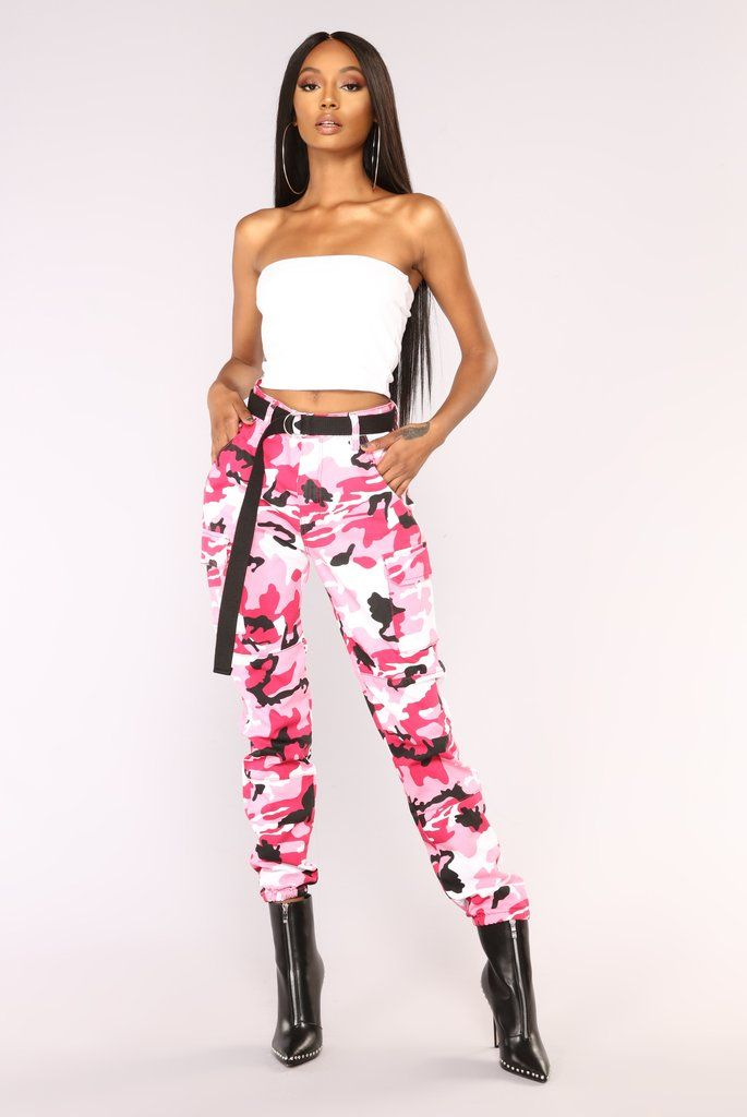 c04b73683b671 Cadet Kendall Oversized Camo Pants - Pink. July 2019. Available In Olive ...