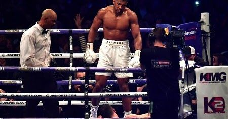 BREAKING NEWS: Anthony Joshua Knocks Out Wladimir Klitschko in 11th Round in Highly Anticipated Match (Photos)