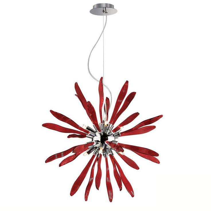 Lampada a Sospensione CORALLO Ideal Lux in vetro e metallo cromato