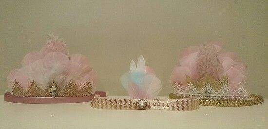 Feather crown for girls