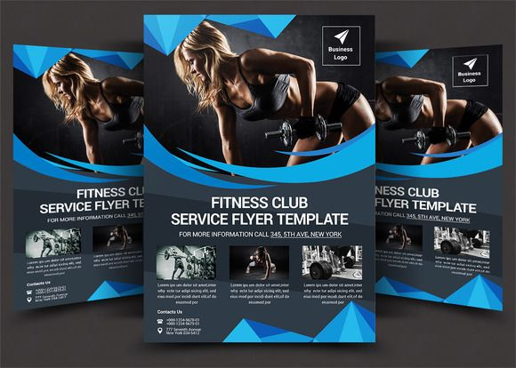 Fitness Flyer by designsoul14 on @creativemarket rowdster - fitness flyer