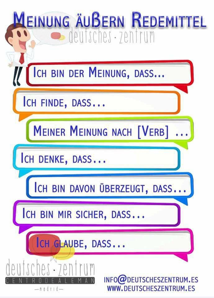 German vocabulary - Expressing opinions