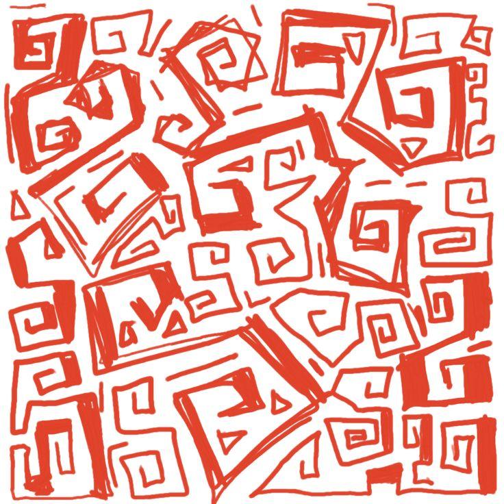 Ocean - Red - fabric print by Charles Bridge 7x