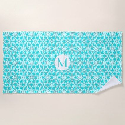 Modern Winter Snowflake Web any color Beach Towel - patterns pattern special unique design gift idea diy