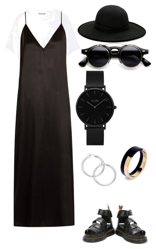 """Blacker than Black"" by juleeuz ❤ liked on Polyvore featuring Vince, Raey, Dr. Martens, CLUSE, Marni and Betmar"