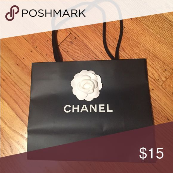 "Authentic Chanel shopping bag Height 9.5"", length 11.75"", width 5"" Bags"