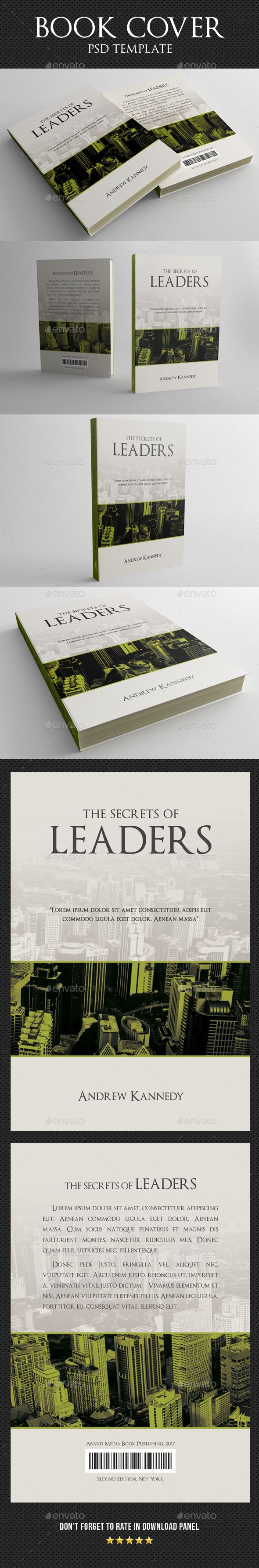Book Cover Design Template PSD
