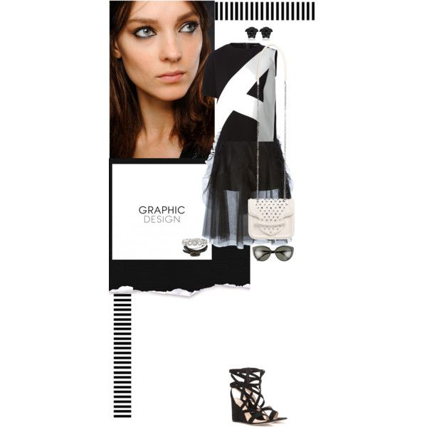 Graphic Design by violavintage on Polyvore featuring polyvore fashion style Anthony Vaccarello Rochas Gianvito Rossi Alexander McQueen Balenciaga Versace Fendi Yves Saint Laurent