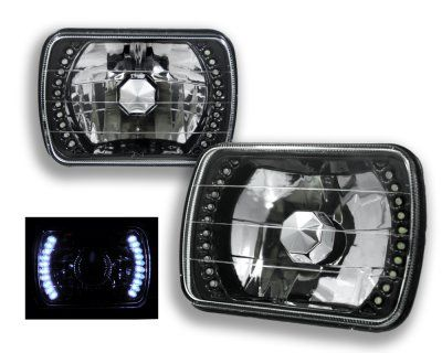 1992 Jeep Cherokee White LED Black Sealed Beam Headlight Conversion | A12879QC199 - TopGearAutosport