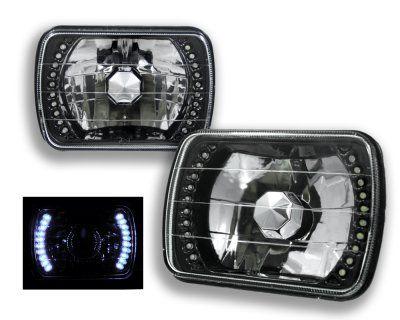 1992 Jeep Cherokee White LED Black Sealed Beam Headlight Conversion | A12879QC199 - TopGearAutosport