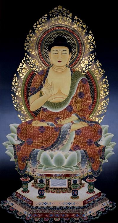 Thangka painting in Japanese style