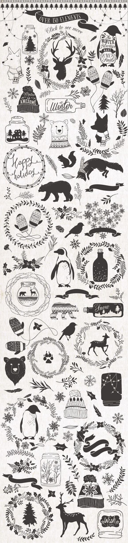 Pretty little Christmas illustrations