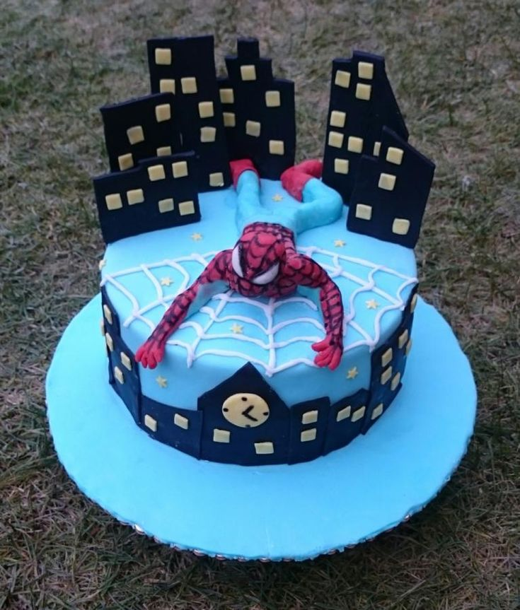 Spiderman cake by AndyCake