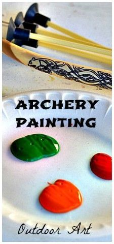art for kids - outdoor archery painting for summer- try to do this with the pool noodle bow