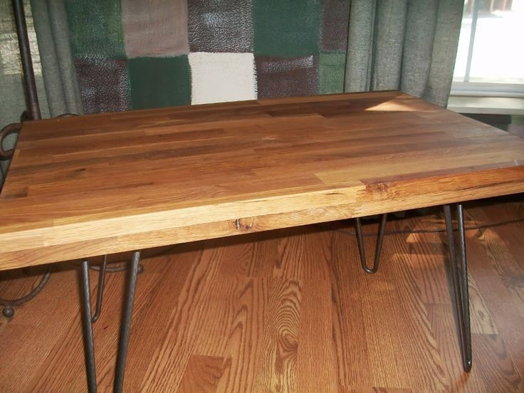 Kitchen: Unfinished Butcher Block Table Gallery Furniture Also Butcher Block  Kitchen High Table From A