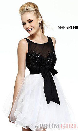 Short Semi Formal Dress by Sherri Hill 11038 at PromGirl.com