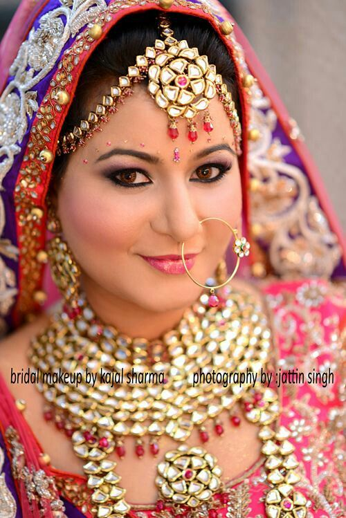 Indain Bridal Makeover By Kajal Sharma Indian Bridal Makeup By Kajal Sharma Pinterest