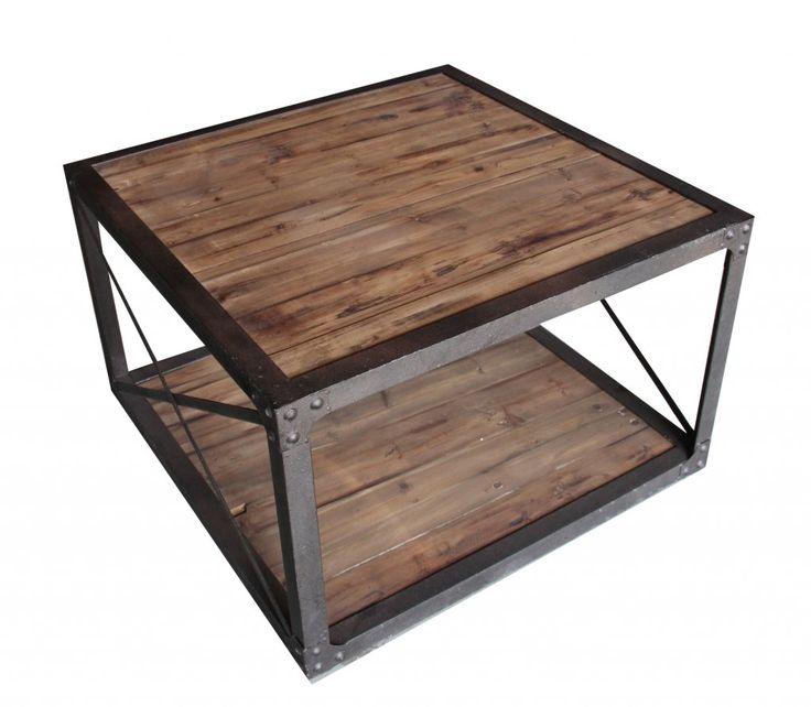 Soffbord Industri brun 80x80x50cm