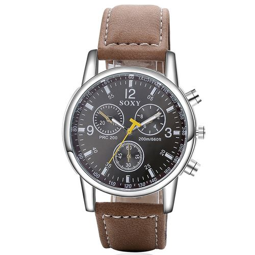 Fashion cool Mens Watch SOXY imitation three eyes dial