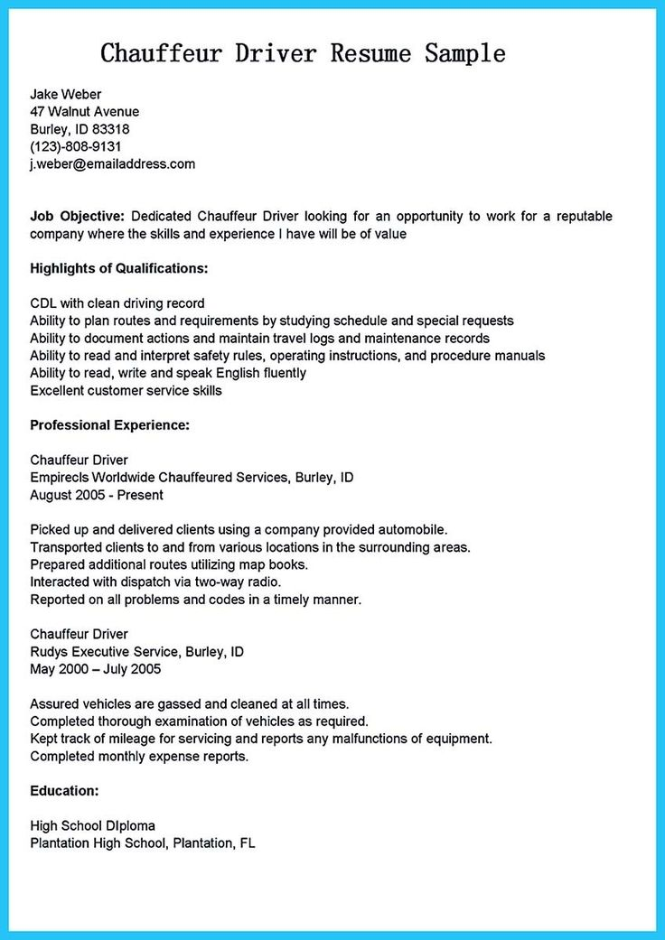 awesome Stunning Bus Driver Resume to Gain the Serious Bus Driver Job,
