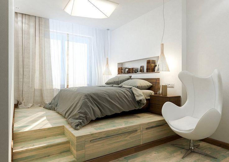 Мебель и предметы интерьера в цветах: серый, светло-серый, белый, бежевый. Мебель и предметы интерьера в .