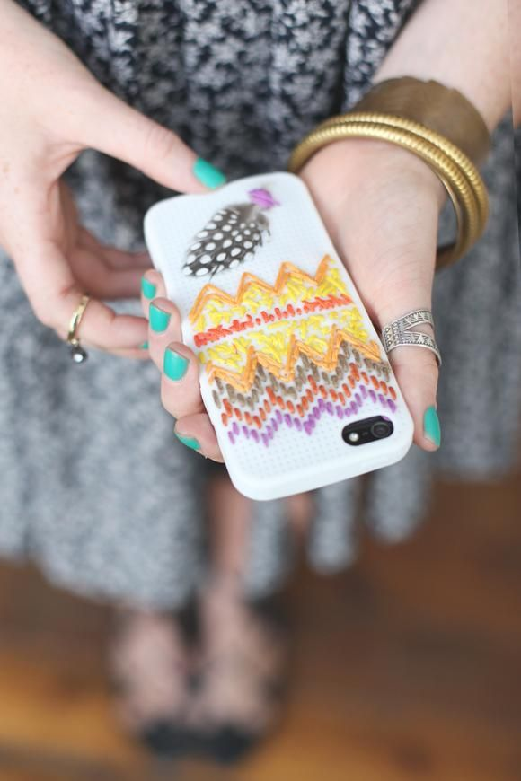 DIY Fabric Phone Case DIY Free People Embroidered iPhone Case DIY Fabric Phone Case