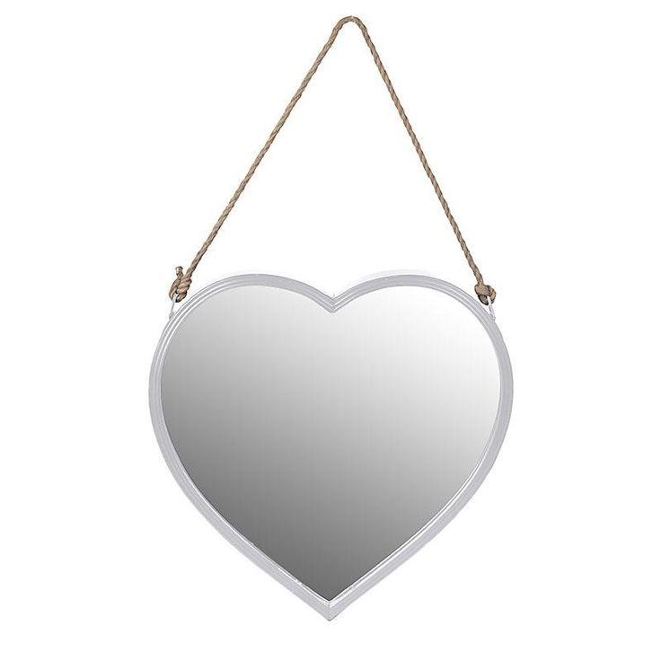 Καθρέφτης μεταλλικός λευκός «Καρδιά»