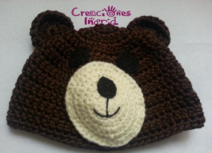 Gorro Oso / Bear Crochet Hat