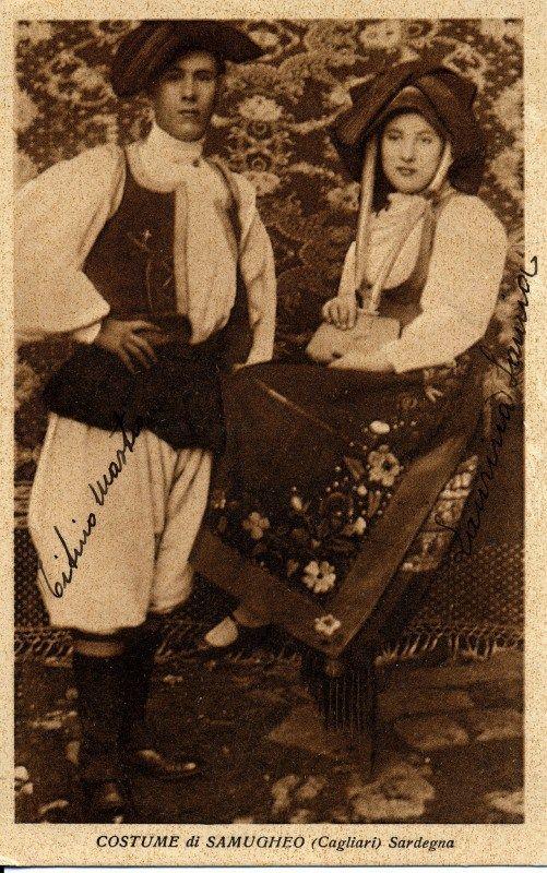 Samugheo - foto antica di coppia in costume