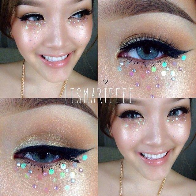 ideias carnaval maquiagem purpurina glitter